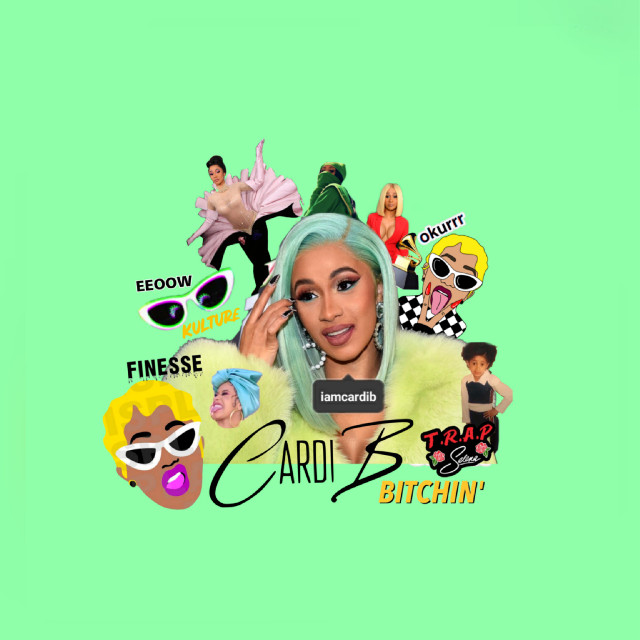 CARDI B VIBES   #freetoedit #cardib #cardibgang #bardigang #cardibedit #edit #editbyme #myedit #collages #collageartist #collageart #collagefreetoedit #design