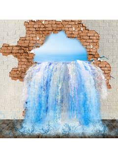 ftestickers wall crack hole water freetoedit