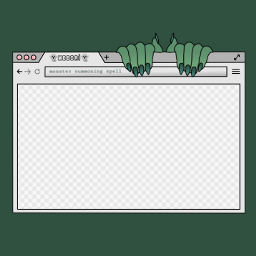 freetoedit scary top frame monster
