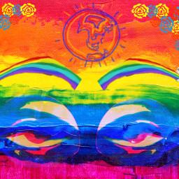 freetoedit eccanvastexture canvastexture primarycolors eyesrainbow