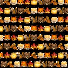 autumn freetoedit sticker pancakes brown