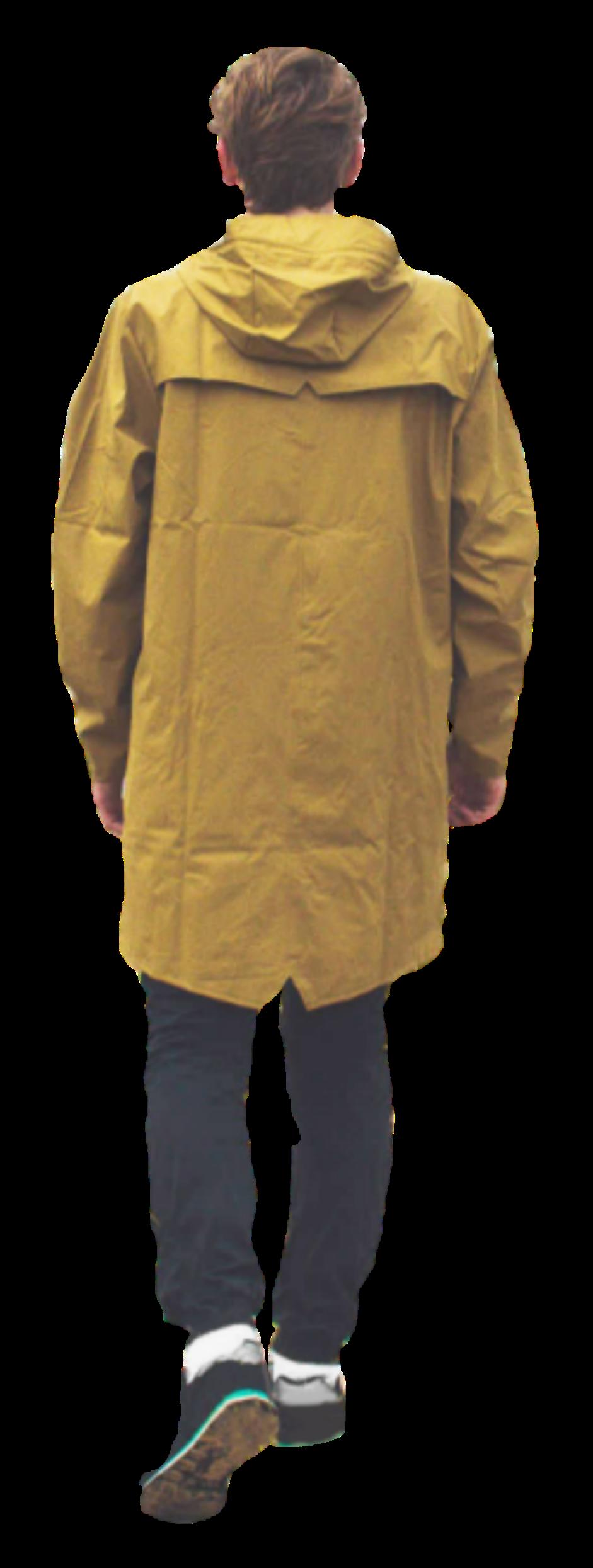 #  man #boy #yellow #raincoat #coat #walking #people