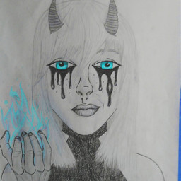 drawing mydrawing demon girl nose
