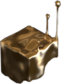 cube drip melt gold golddrip freetoedit