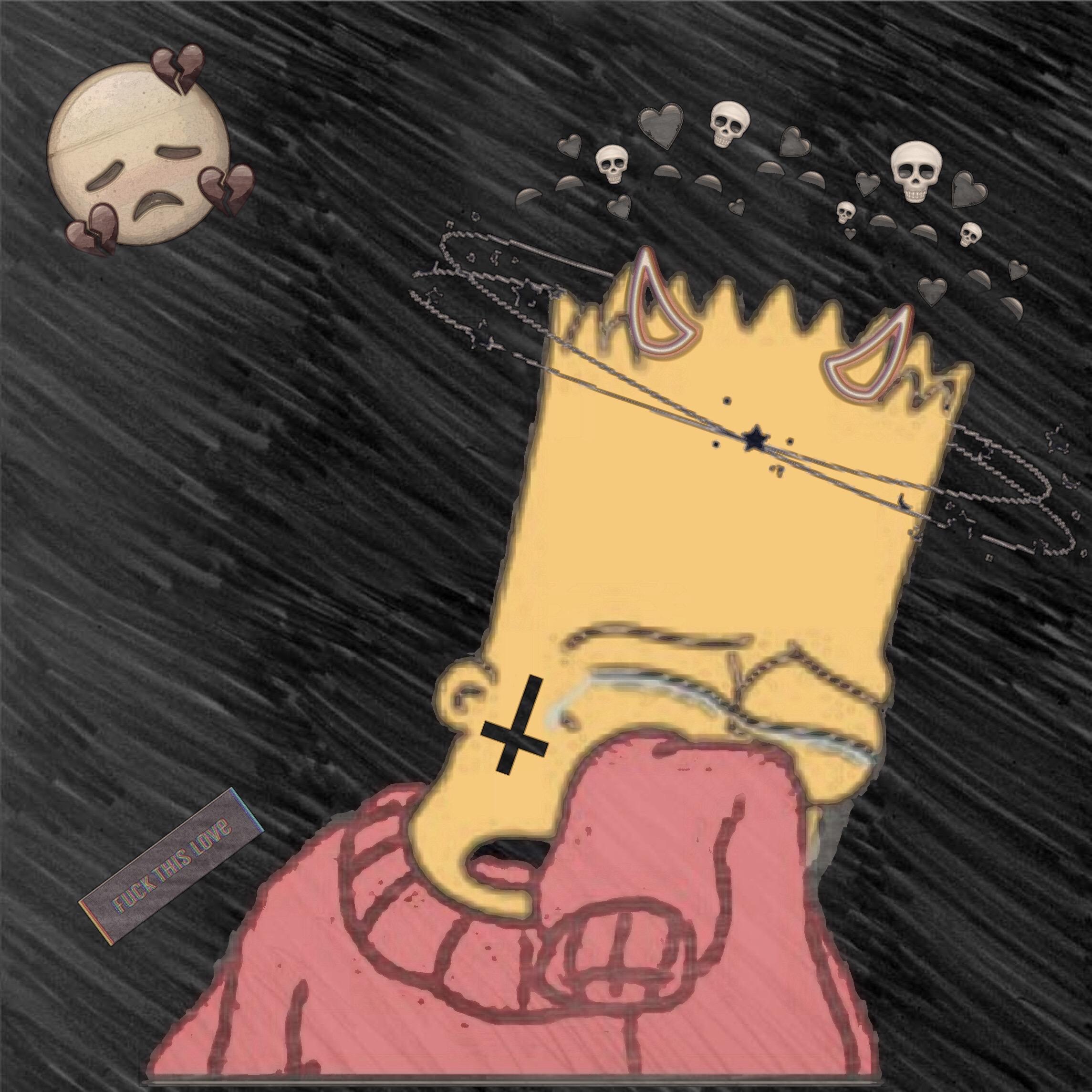 симпатичные картинки симпсоны на аву грустные с черными сердечками вакансии модель для