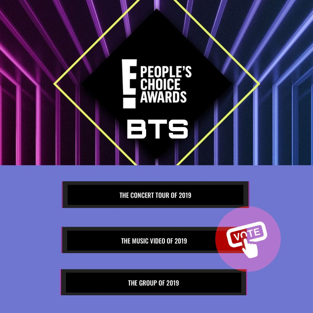 ARMY!! VOTE FOR BTS PLEASE!!  Please vote BTS on these 3 categories. All you have to do is just to confirm it with the e-Mail and there is also a number of votes. You can choose how many you want.  Link: https://pca.eonline.com/   If the link doesn't work go on google.   #bts #btsarmys #btsarmy #army #vote #freetoedit