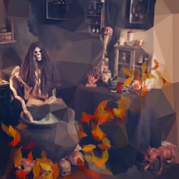 freetoedit halloween scene decor