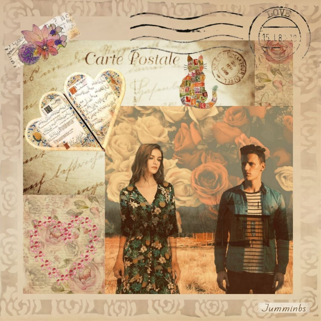💕My vintage edit inspired from my own gallery and Picsart's tag.. ▶️https://picsart.com/i/308406336044201?challenge_id=5d9dc0debd3ace0704bc0e04  OPs x3 - bg, postcard & writing..Px here.. Female cutout GIs.. Draw mode edging.. Own stickers.. #vintageeffect #aesthetic #vintage #picsart #collage #mystyle #collageart #digitalcollage #collageartist #irccabin #cabin #vintagestyle #seaformeffect  #roses #stamps #warmambereffect   #freetoedit