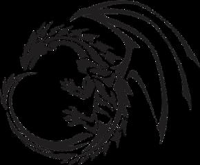 dragon dragão tattoo tatuagem tribal freetoedit