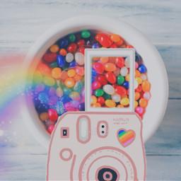 freetoedit rainbow polaroid rainbowlight jellybean