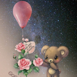 sweetdreams teddybear balloon goodnight vipshoutout freetoedit