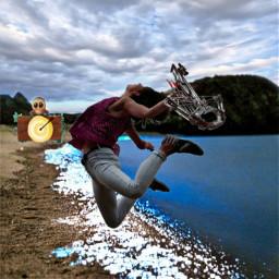 freetoedit crossbow ballesta beach arrow ircsimplyyellow
