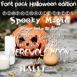 halloween halloweenfonts fonts phonto fontpack