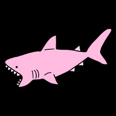 shark pink pastel light cute freetoedit