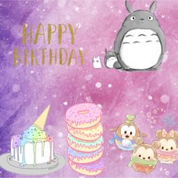 freetoedit happybirthday totoro tsumtsum cake