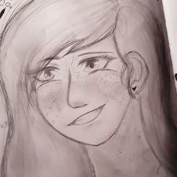 improvement myart oc pencil drawing
