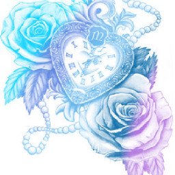 colorpaint draw picsartcolourapp rose heartclock