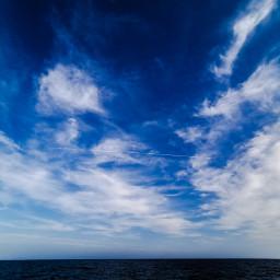 50shadesofblue sea sky clouds aeroplane