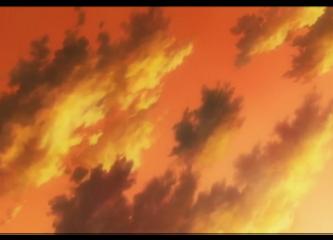 sky clouds anime orange aestethic freetoedit