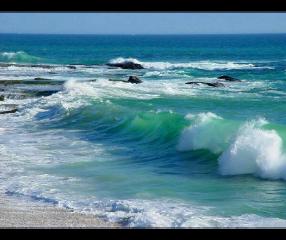 waves beach sea blue color freetoedit