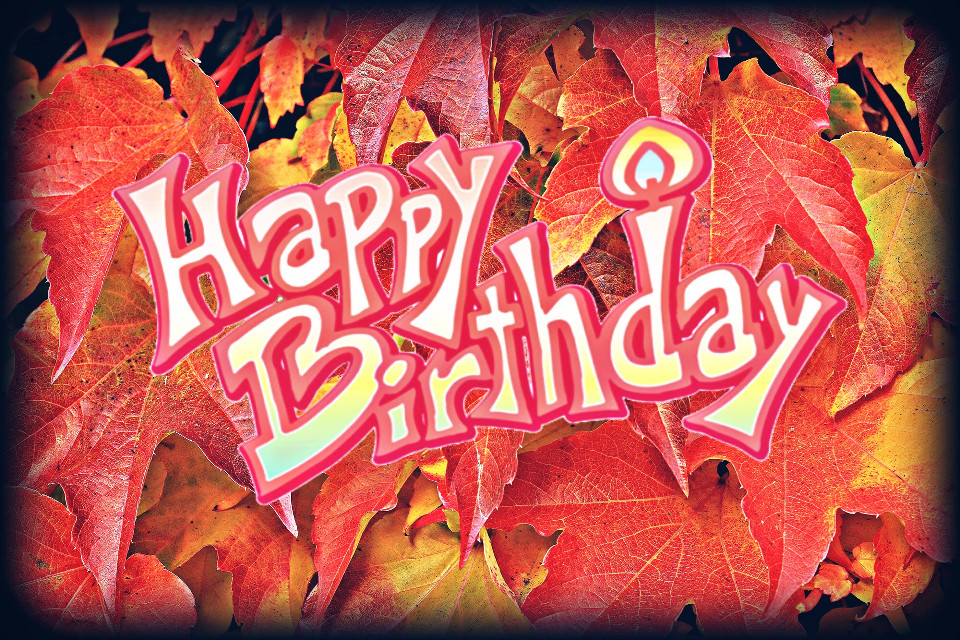 #freetoedit #happybirthday #leaves #vignetteeffect #dodgereffect #hdreffect
