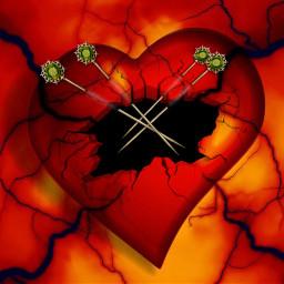 freetoedit broken hole brokenheart heartache