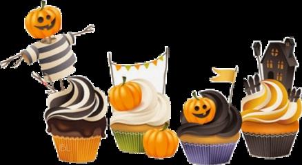 freetoedit cupcake halloween dessert pumpkin scdessert