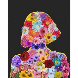 freetoedit art flowers colorful girl