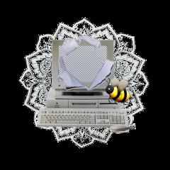 fanaccount overlay computer bee aesthetic freetoedit