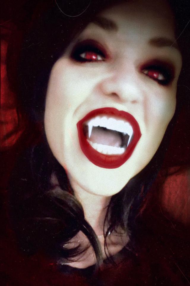 In the spirit of All Hallows' Eve. #vampiress  #artisticselfie #madewithpicsart #myedit #freetoedit