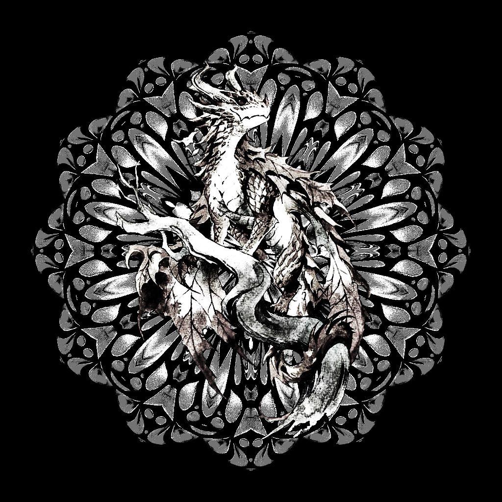 The Dragon                                                                    #myedit #doublexposure #remixit #nocolor #metaliclook #fantacy #sticker  #freetoedit