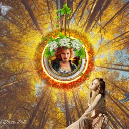 freetoedit sun light trees autumn ircteatime
