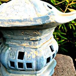 pagoda lamp bamboo serenity peace