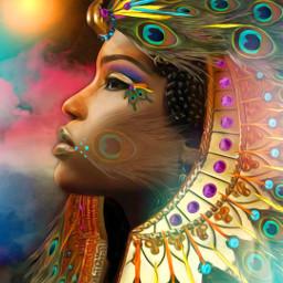 freetoedit crystals egyptian egypt headdress