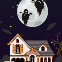 hauntedhouse spooky ghost freetoedit