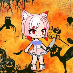 ecgachalifehalloweenoc gachalifehalloweenoc halloween halloweencostume bloody freetoedit