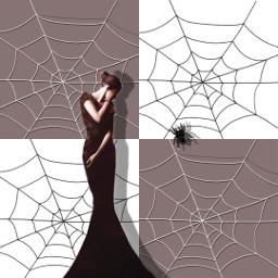 freetoedit october woman spiderwebs spider