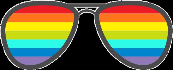 sunglasses rainbow freetoedit