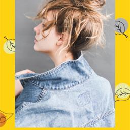 freetoedit denim autumn girl background