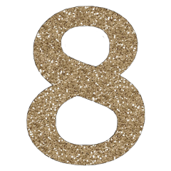 numbers number 8 8yrsold glitter freetoedit