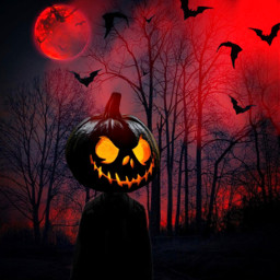 halloween creepy pumpkin black scaryedit scary freetoedit
