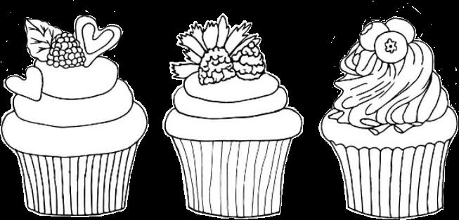 #freetoedit #blackandwhite #drawing #art #sweet #dessert #cupcakes