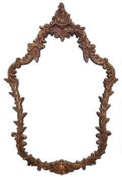 frame brass ornate antique mirror freetoedit
