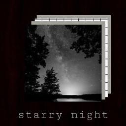 starrysky stars night collage blackandwhite