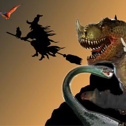 freetoedit halloween gachalife dinosaurs monsters