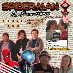 spiderman farfromhome spidermanffh spidermanhomecoming tomholland freetoedit