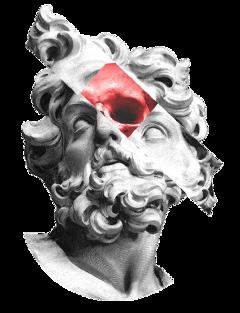 statue aesthetic skull art greekstatue freetoedit