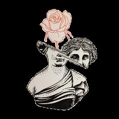 statue aesthetic flower art greekstatue freetoedit