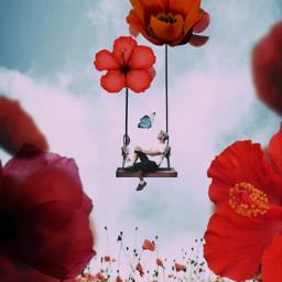 surreal flowers creative freetoedit