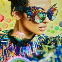 freetoedit simplyyellow woman glasses colourful